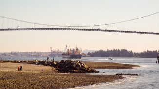Freighter in Vancouver Harbour